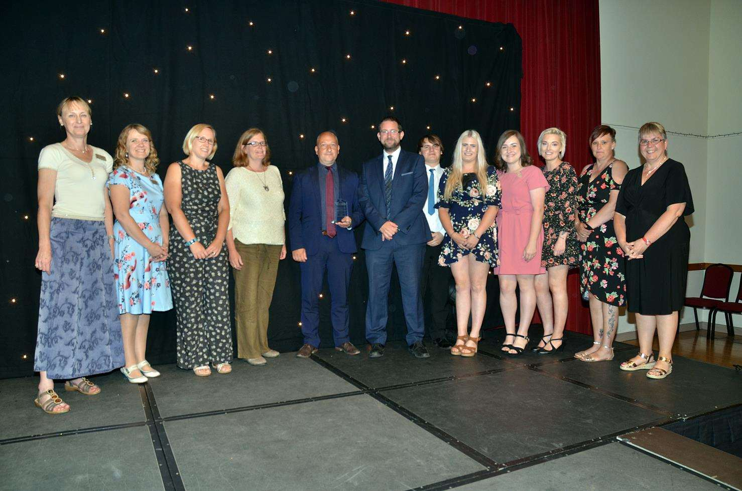 Kirton Primary School staff, including executive head teacher Nicky Donley, accept the Primary School of the Year award at the Lincolnshire Free Press and Spalding Guardian Education Awards in July. Photo by Tim Wilson. 050718299SG. (2918034)