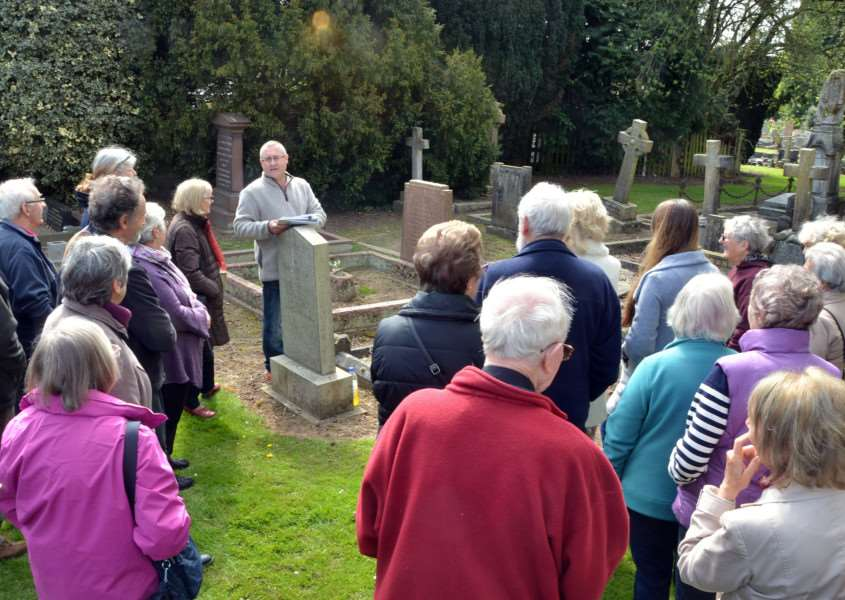 Cemetery trails with Linden Secker have been hugely popular. SG220417-158TW