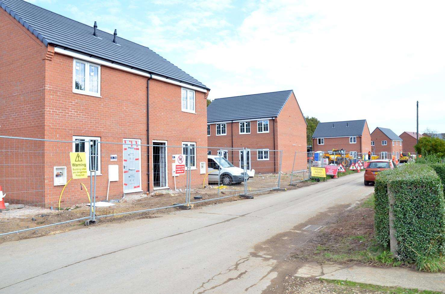 The Ashwood Homes development in Low Road, Holbeach. (4915517)