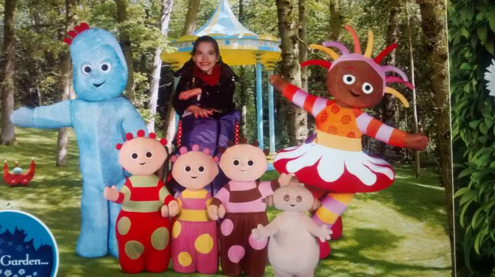 Alice pictured in CBeebies Land last month.