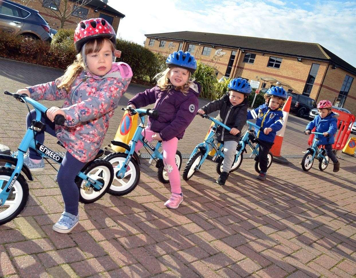 Children at Sunflower Lodge Childcare in Pinchbeck will help raise money for Nicole by completing sponsored laps around a coned off area of the car park on balance bikes. (5449448)
