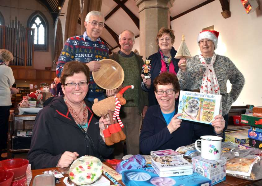 Having fun at the St Bartholowmew's Christmas coffee morning. SG251117-113TW