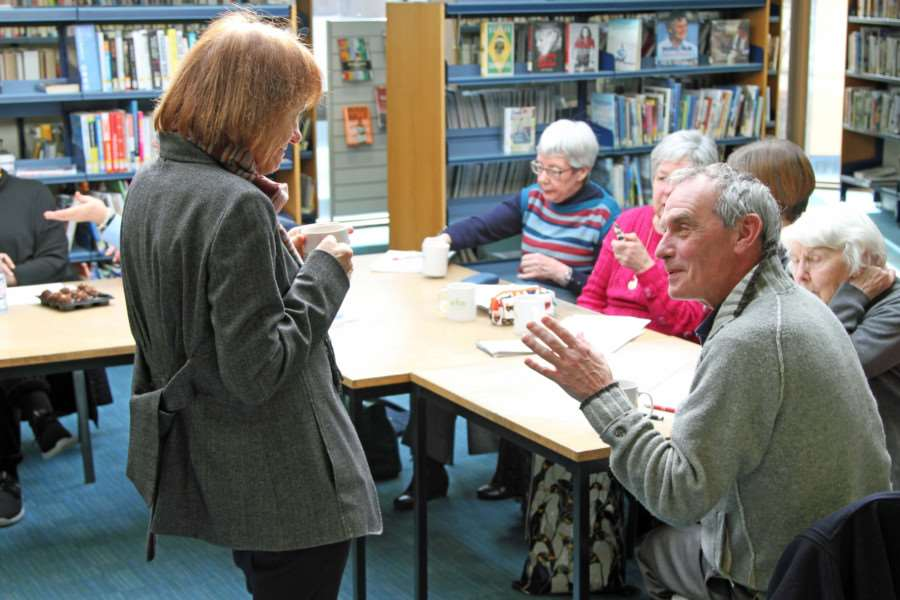 Christina James Visit Spalding Library.