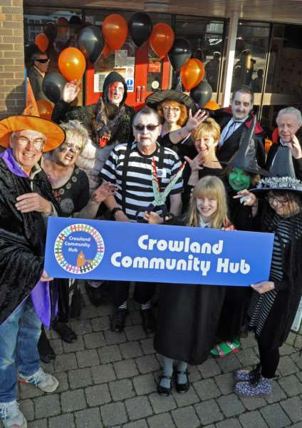 The official opening of Crowland Community Hub' on Halloween day, October 2015. Photo by Tim Wilson. SG311015-138TW.