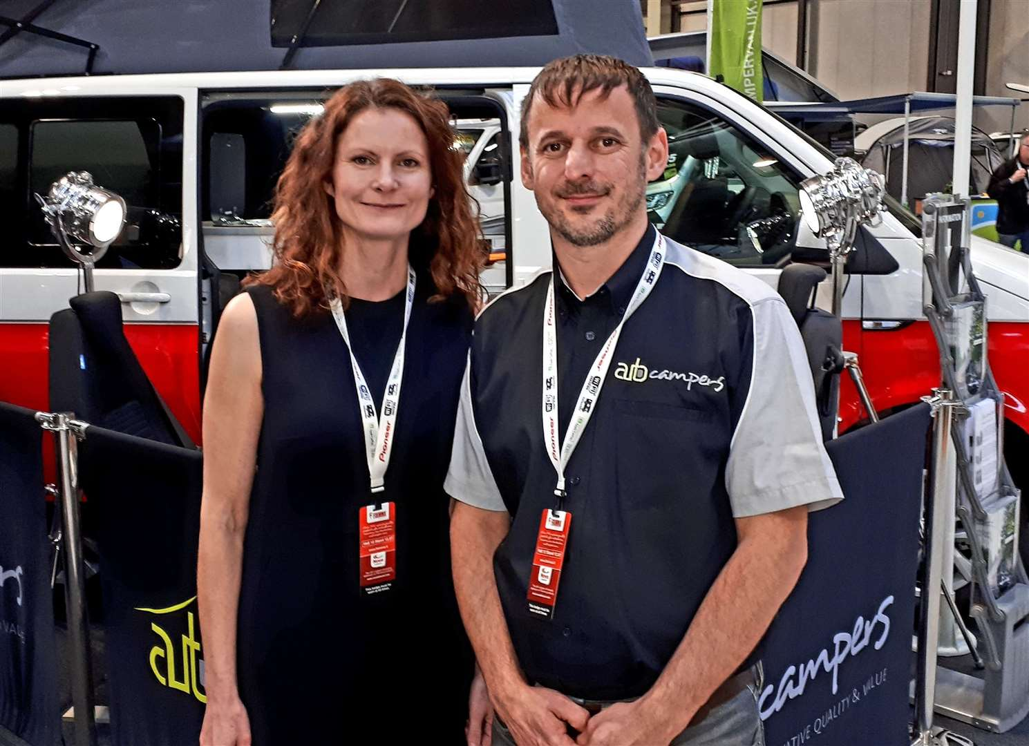 TEAMINGUP: Highland Auto Campers owner Mark Jarratt with girlfriend Alicia