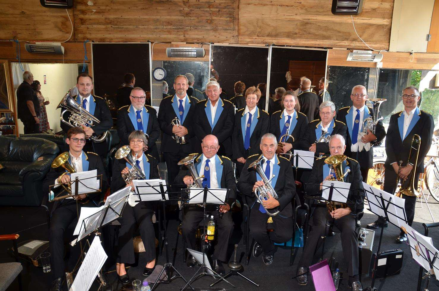 St Nicolas Players' Brass Band in Brassed Off. Photo by Tim Wilson. 050818108SG