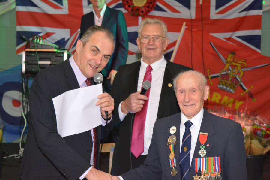 Melvyn Prior and Harold Payne with veteran Ernie Covill.