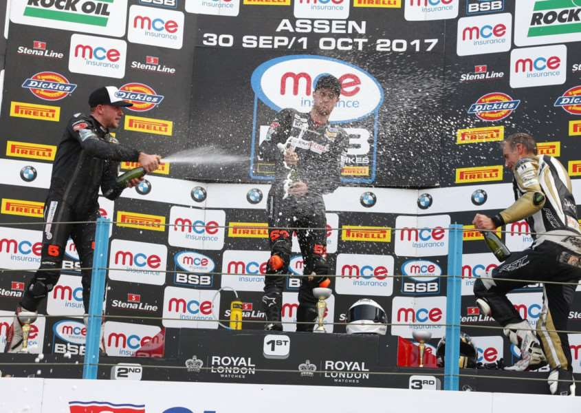 On the podium at Assen