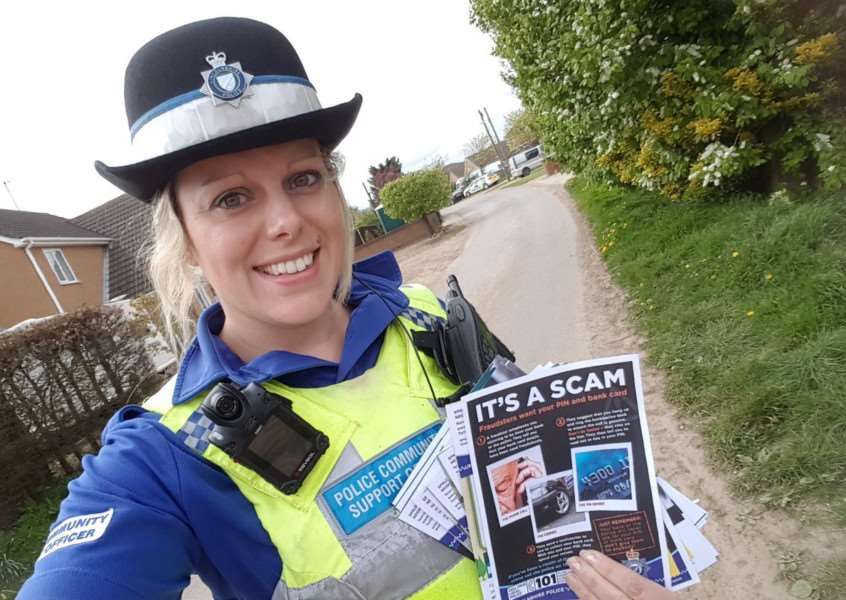 PCSO Naomi Newell of Spalding Rural Neighbourhood Policing Team, including Moulton, Moulton Chapel and Moulton Seas End.