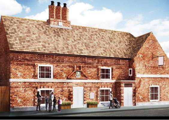 HERITAGE DRIVE: An artist's impression of how the Old King's Head in Kirton could look if a �2.8million renovation and refurbishment project goes ahead. Photo supplied by Heritage Lincolnshire.