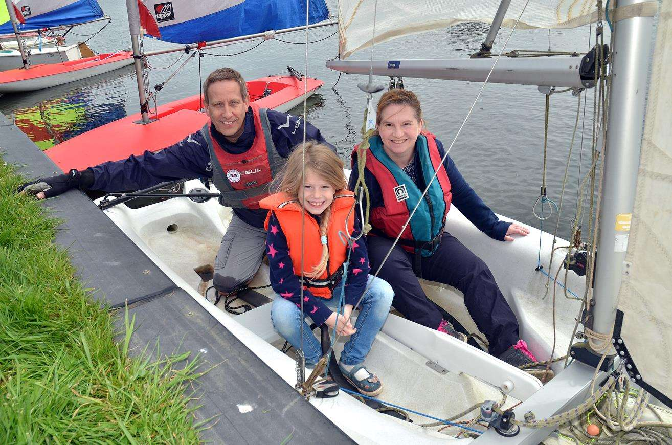 Club helm Andy Agar returns with visitors Melanie and Isobel Wilkins