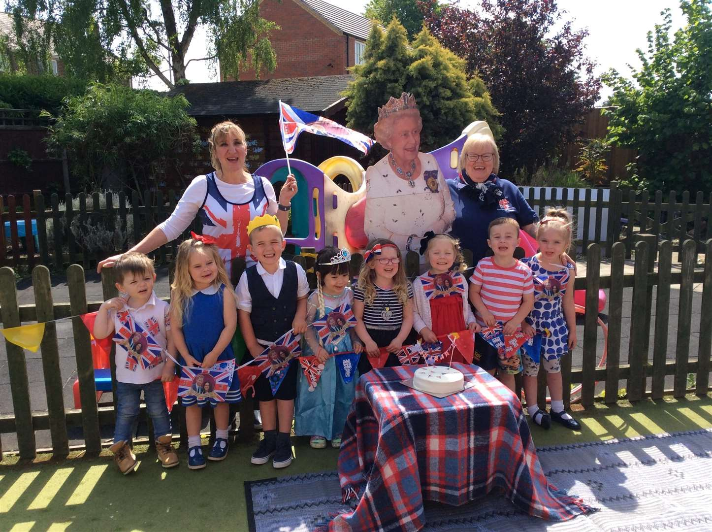 Swineshead Pre-School children enjoyed a royal picnic.