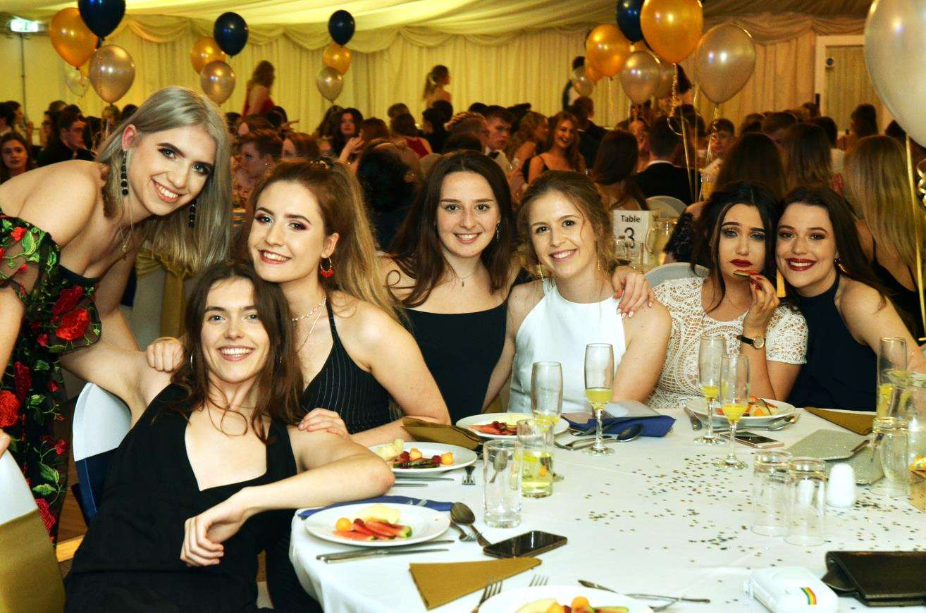 All smiles from the sixth formers enjoying the ball. (SG250518-24)