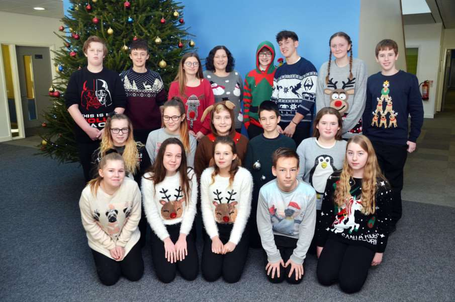 UAH pupils in Christmas jumpers for Save the Children day