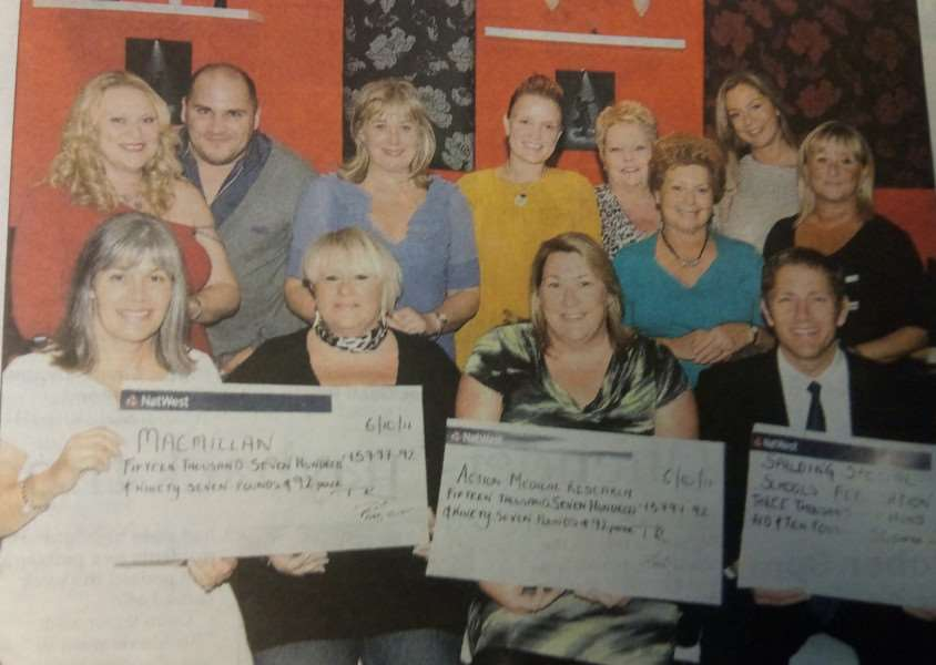 Fundraising cheques in 2011