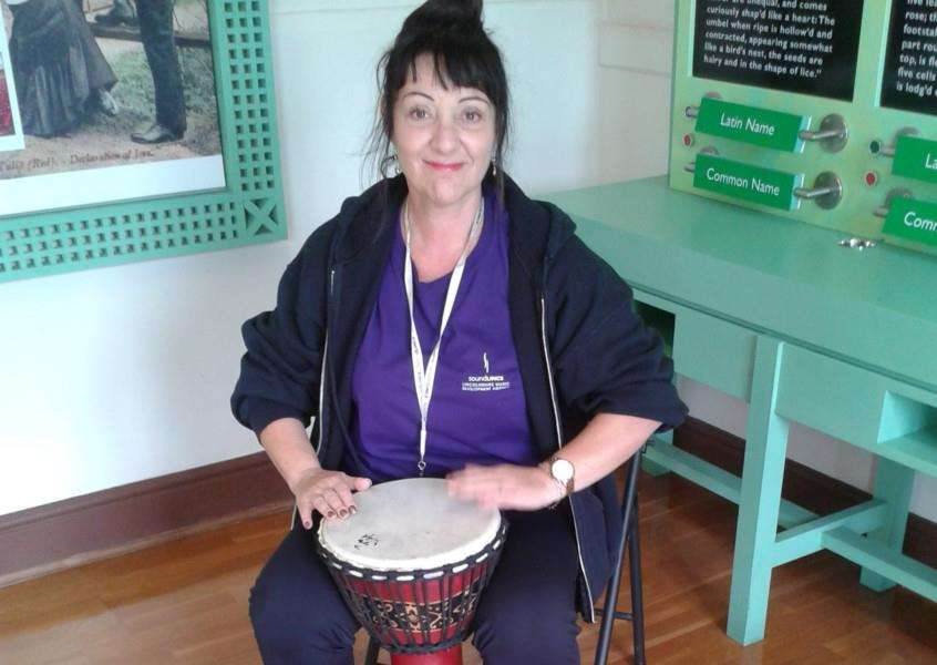 Liz Lenton wants people to get involved in the new percussion sessions.
