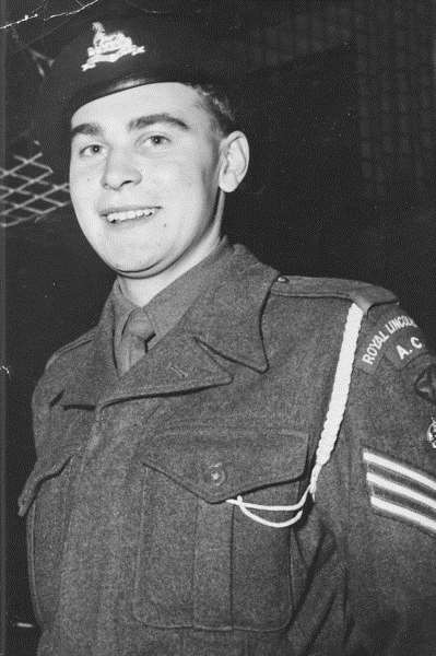 Ken Willows as a young Staff Sergeant in the ACF.
