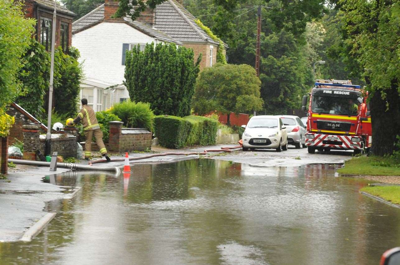 Holbeach suffered flooding following heavy rain in June