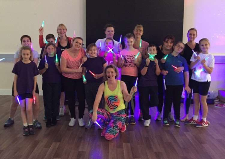 The Clubbercise group at Spalding Parish School