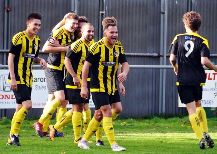 Celebration time for Holbeach United