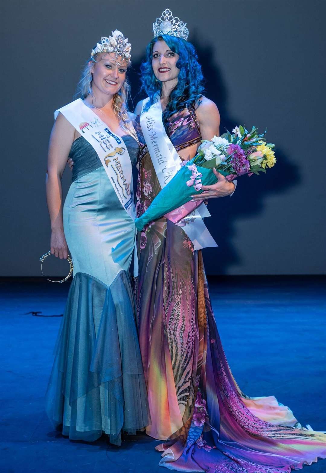 Laura Hudson (right) with reigning Miss Mermaid UK and International winner Laura Siddall. Photo by Paul Dale.
