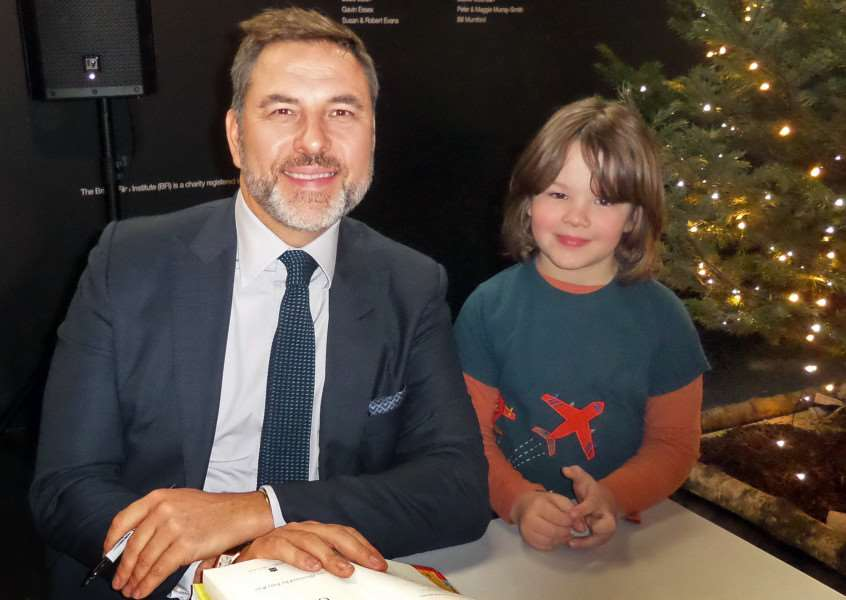 MARLEY'S GOT TALENT: Holbeach Hurn youngster Marley Shaw meets David Walliams. Photo supplied.