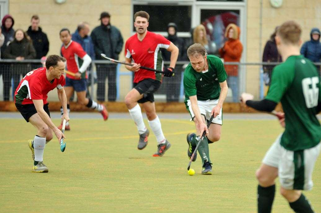 Nick Ellis in action for Long Sutton men's 1sts in his side's previous home game against Norwich Dragons 1sts.Photo: SG-150220-016TW.