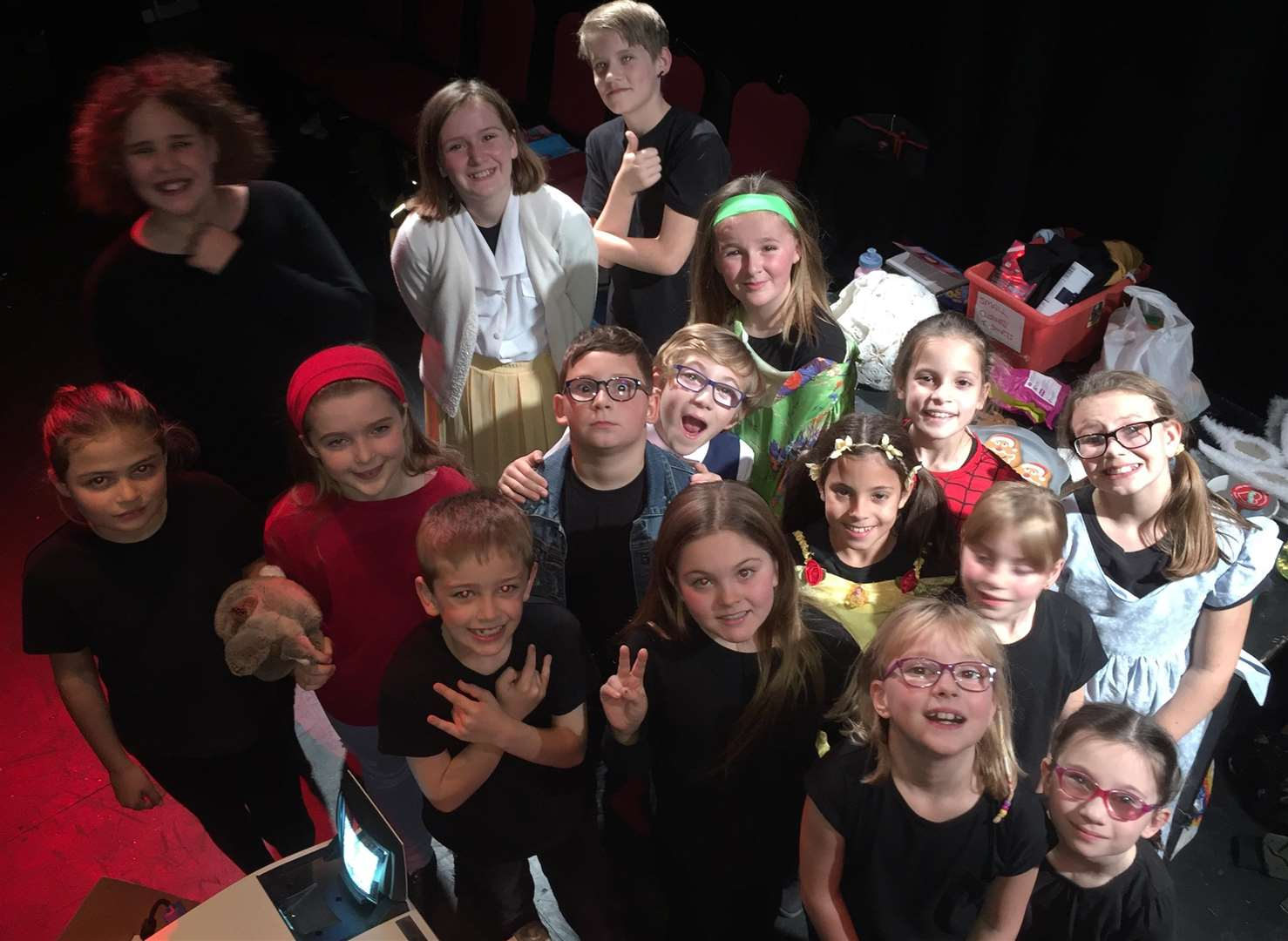 Act II Theatre Company's Pint-Sized Players make up the cast of The Suitcase Kid, a stage adaptation of the book by Jacqueline Wilson. Photo supplied by Jacqueline Wilson. (5475460)