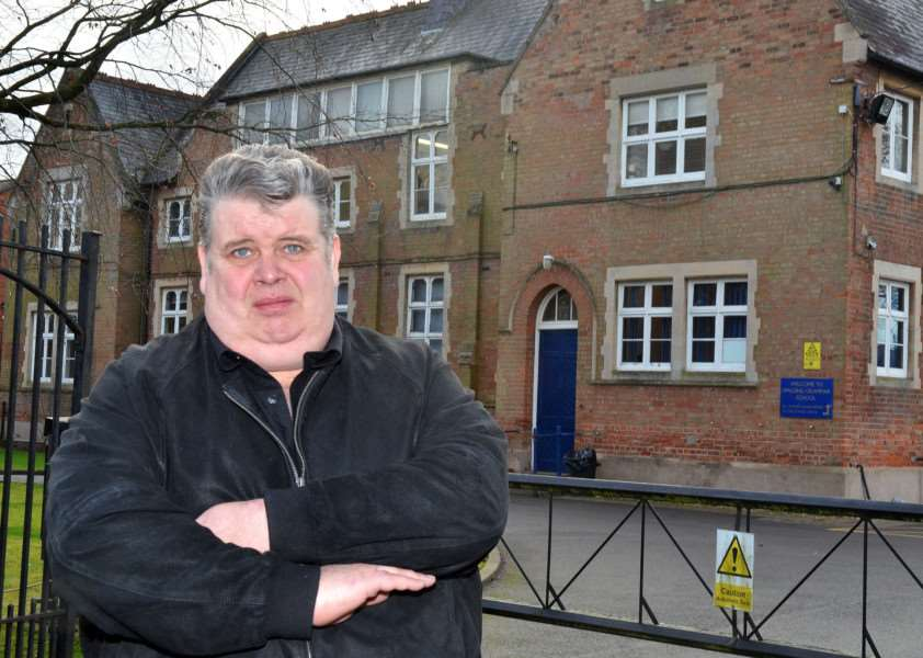 Mick Flindall has launched a petition in a bid to overturn the school's decision. SG050218-100TW