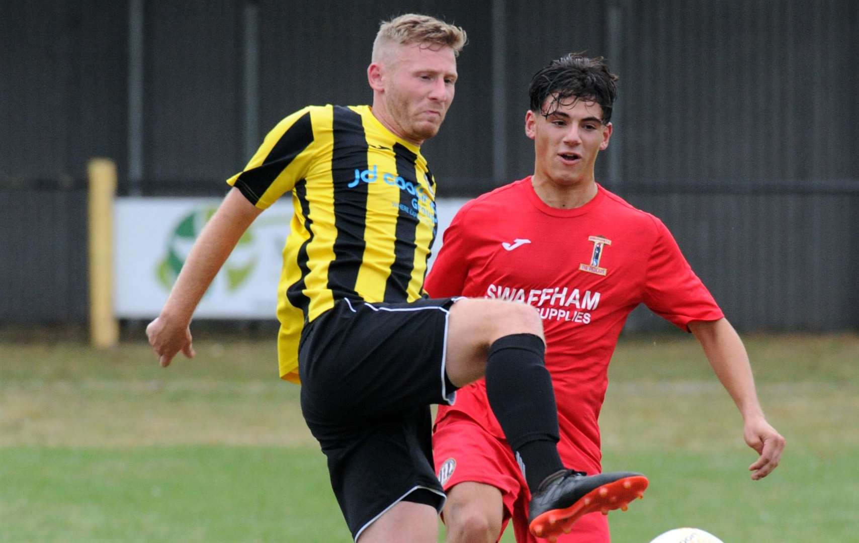 Luke Wilson opened the scoring for Holbeach United at Boston Town on Tuesday night.Photo by Chris Lowndes.