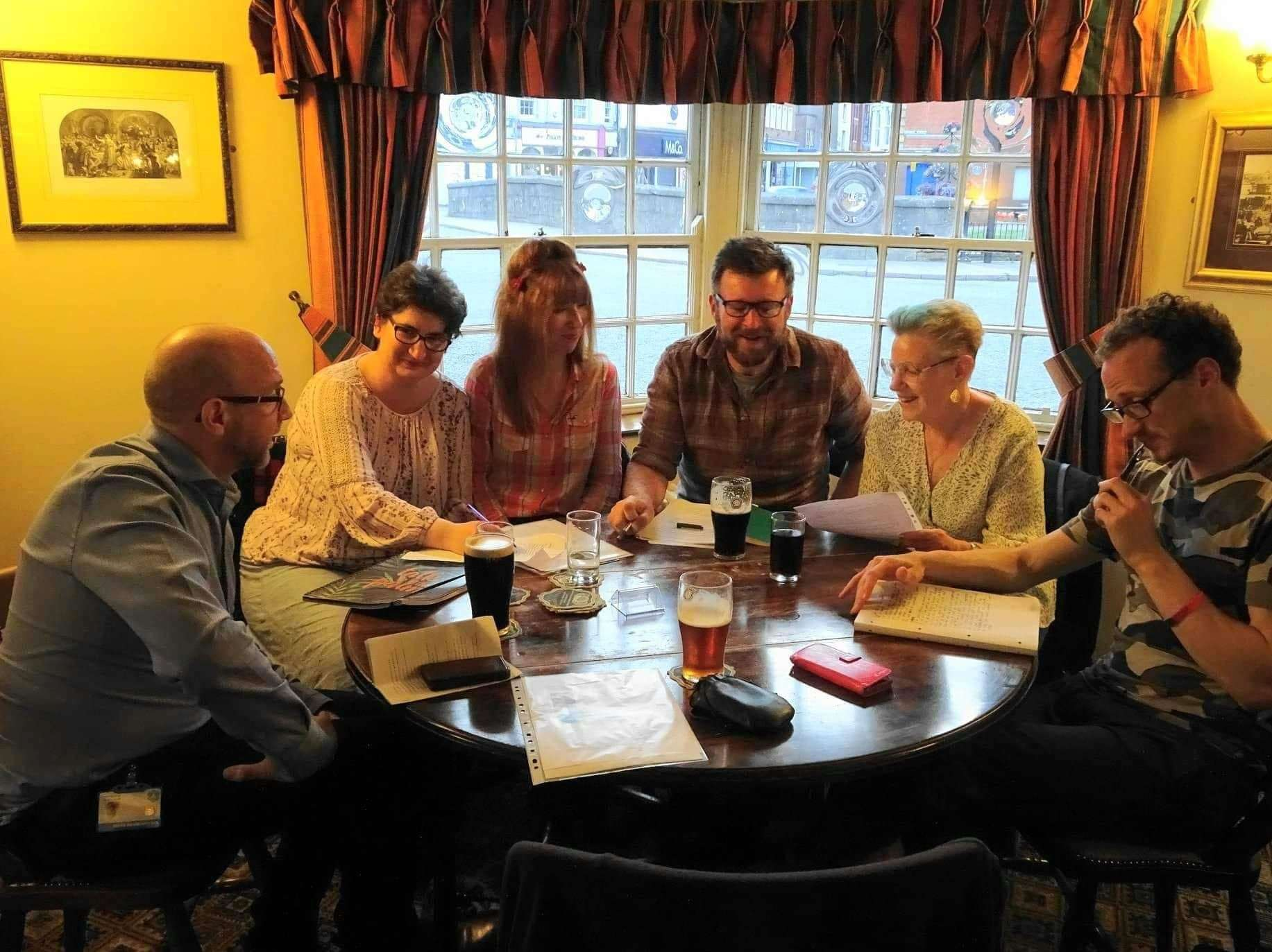 The White Horse Writers meet. (22302249)