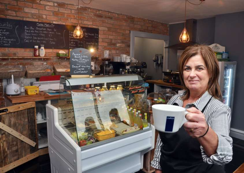 Sharon Welsh in her new coffee shop and cafe in Donington. SG281117-129TW