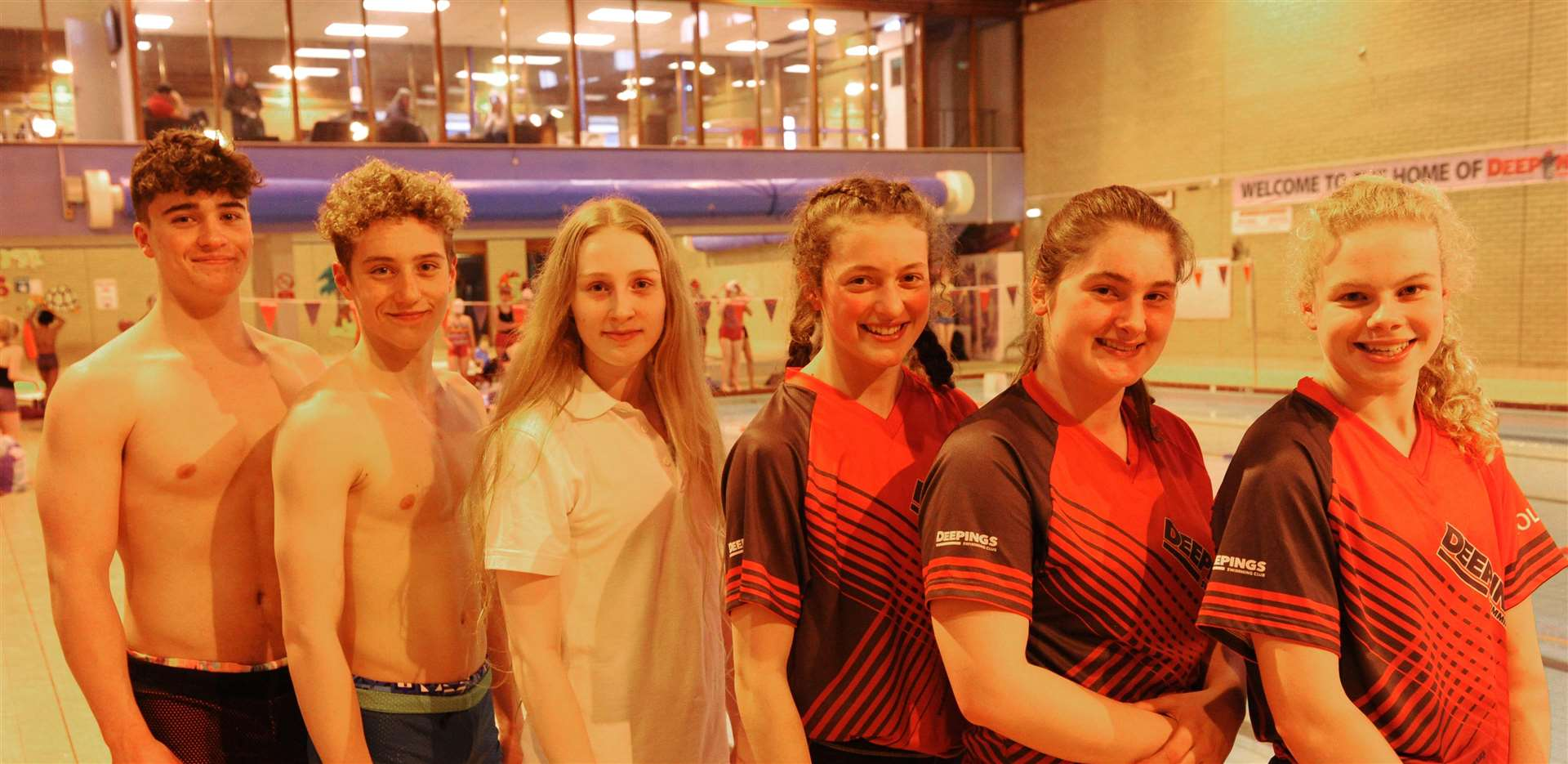 The East Midlands squad. From left – Tom Adams, Louis Metselaar, Bailie Harrison, Bethany Eagle-Brown, Jessie Spooner and Holly Leggott (missing Isabel Spinley and Tom Neal).