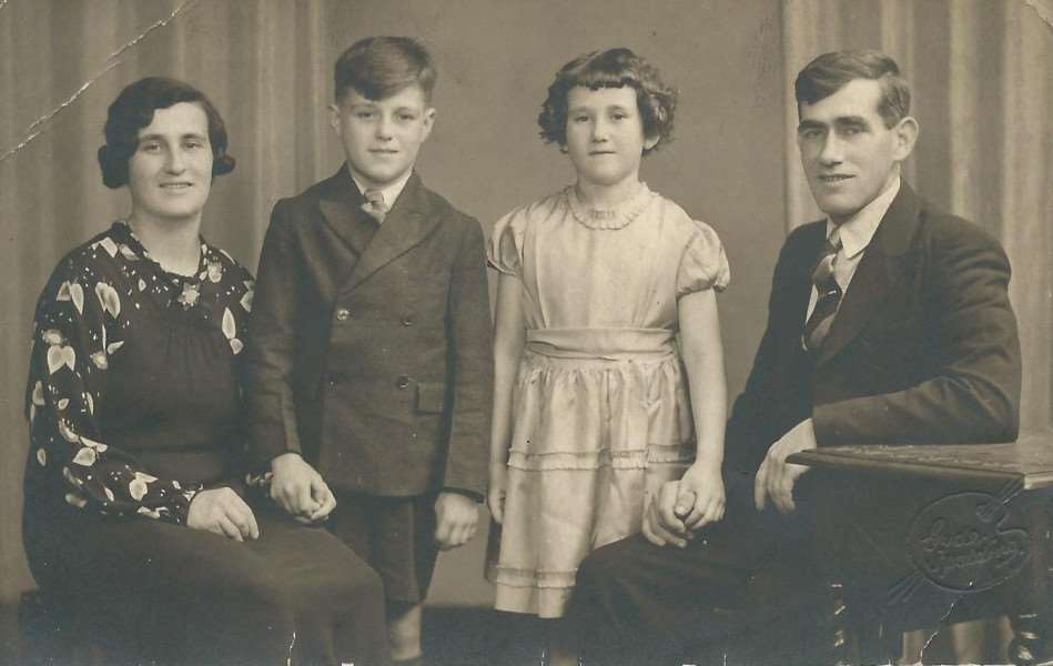 Phyllis Willerton with husband James, son Jim and daughter Alice.