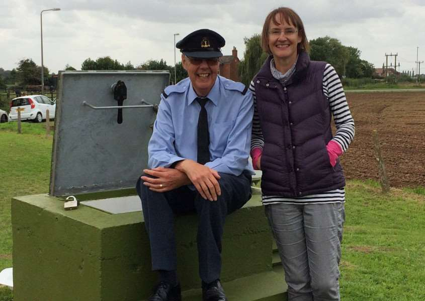 Trish with Charles Parker at Holbeach ROC post.