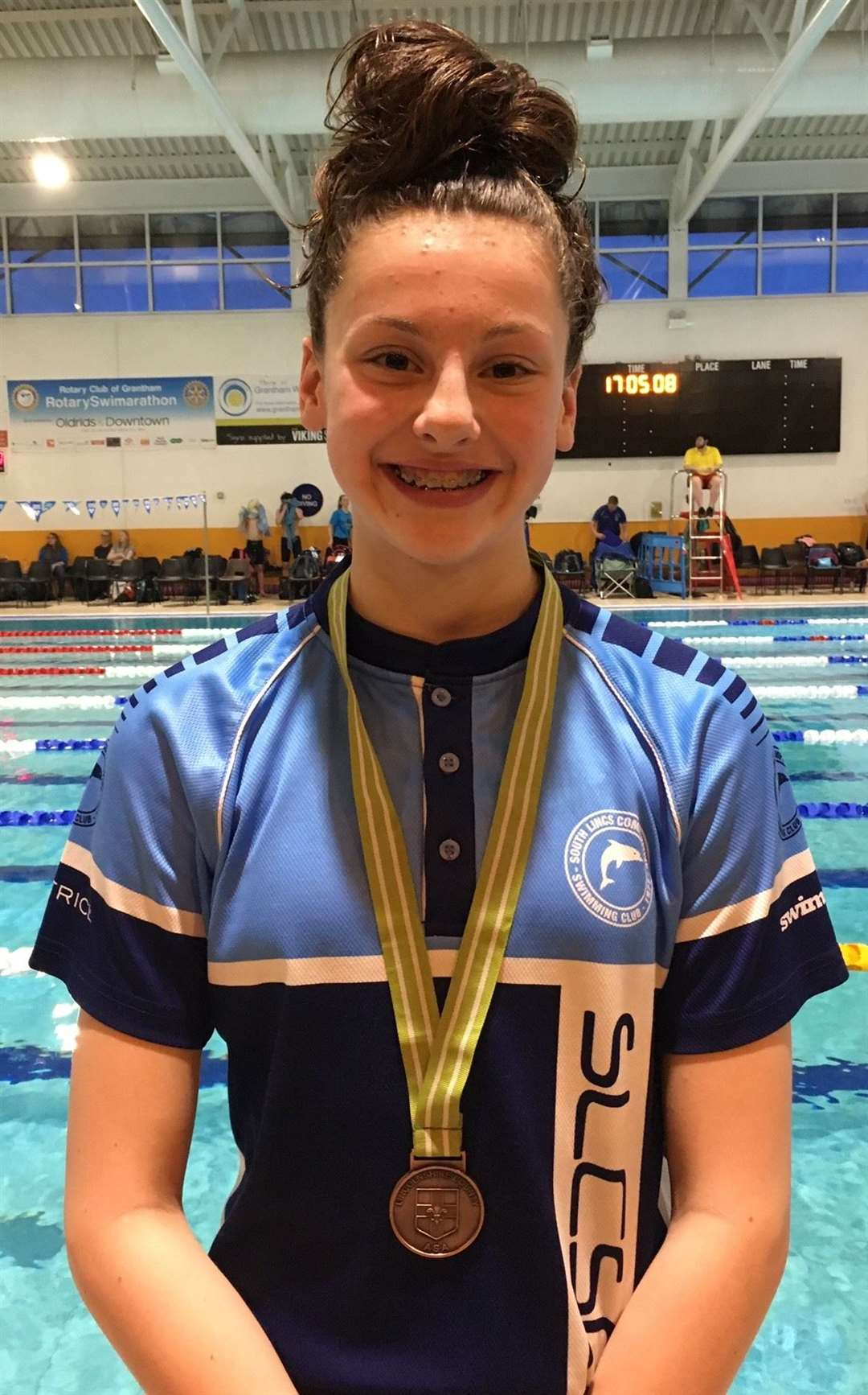 South Lincs Competitive Swimming Club medallists Beatrice Finch.Photo supplied.