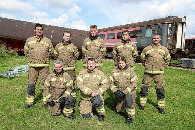 Matthew Booty, back row, second from right, will be based at Spalding Fire Station.