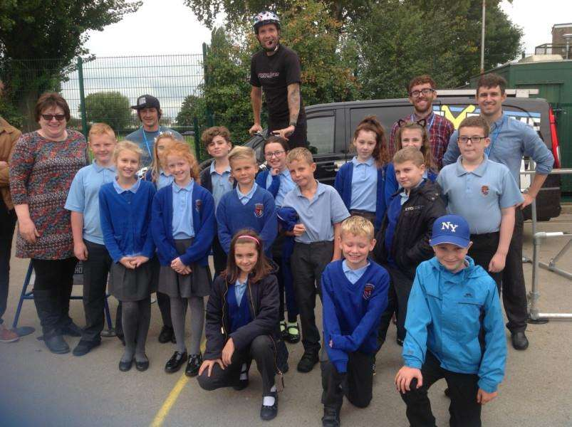 BMX day at Monkshouse Primary School