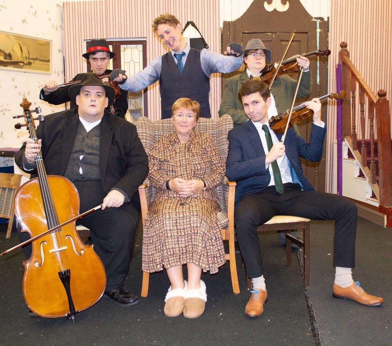 The leading players of the cast in the SADOS production of The Ladykillers at South Holland Centre, Spalding, until Saturday. Photo supplied by SADOS.