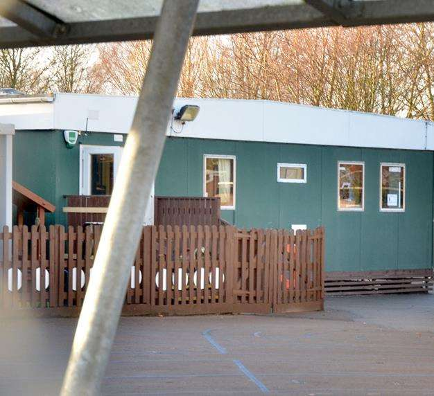One of the temporary buildings used by Wygate Foundation Nursery School which could be replaced by a permanent building. Photo (TIM WILSON): SG-010219-015TW