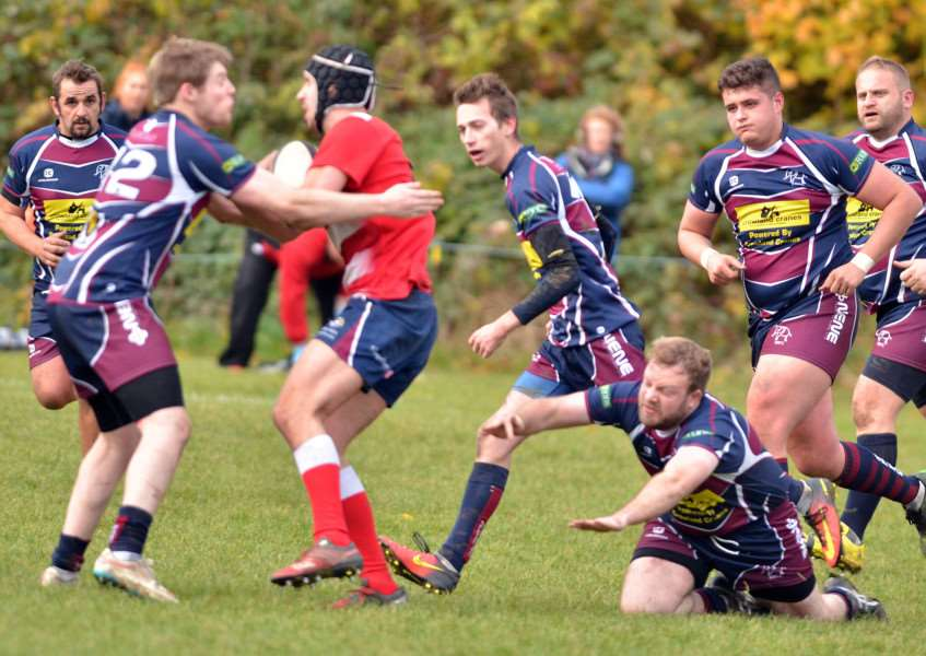 Action from the home defeat to Nottingham Moderns in November