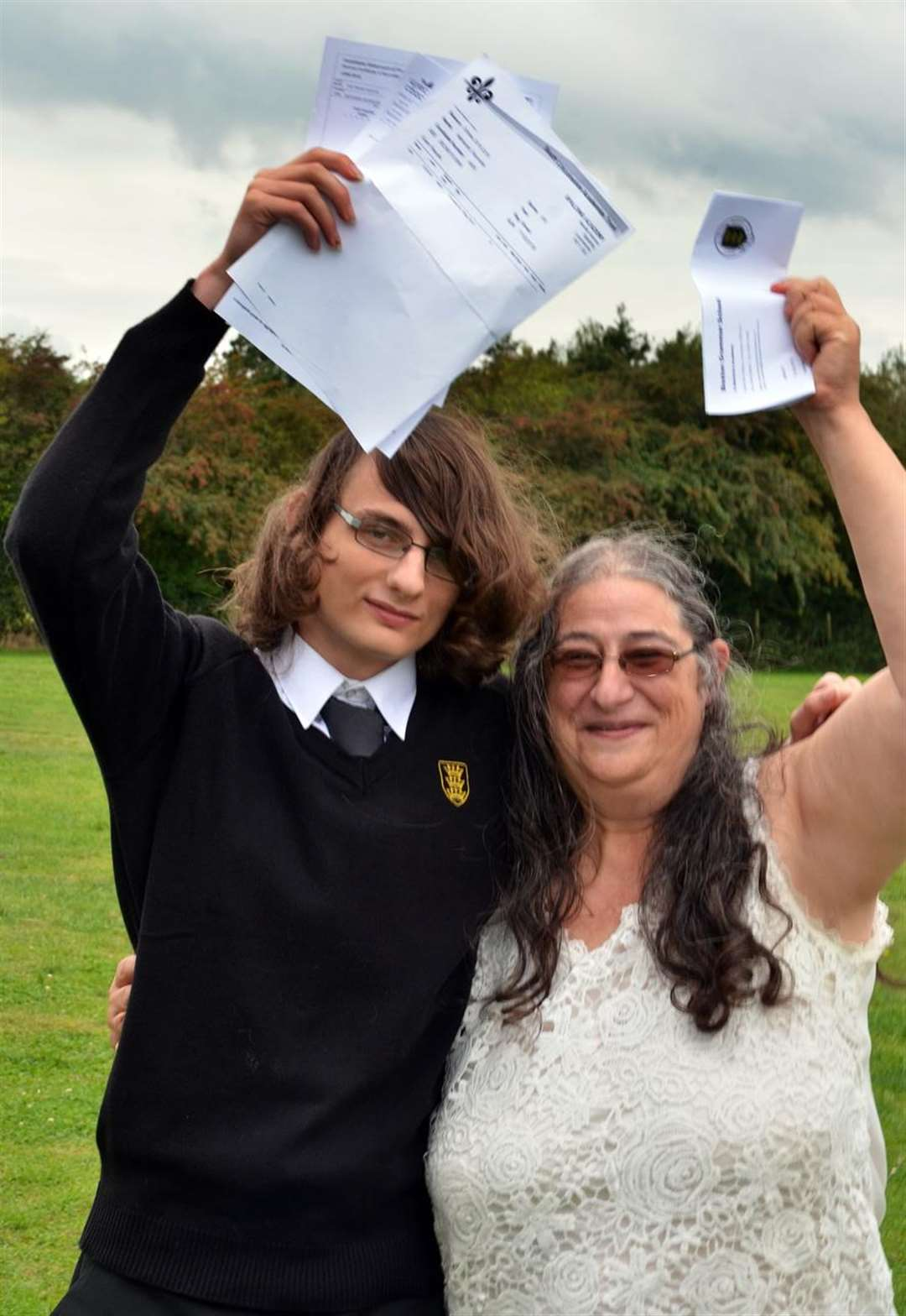 High-flying GCSE autistic student Nathaniel and mum Ros Reynolds. Photo by Tim Wilson. SG-080918-097TW. (4066551)