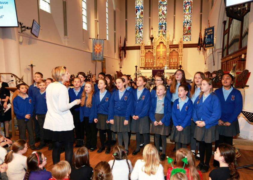 Schools are getting ready for the choir competition to coincide with the Christmas Lights switch-on.