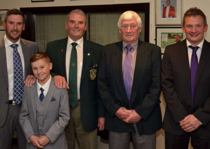 Spencer Gooderson (son), Louie Gooderson (grandson), Peter Gooderson, Willie Ford and his son Darren.