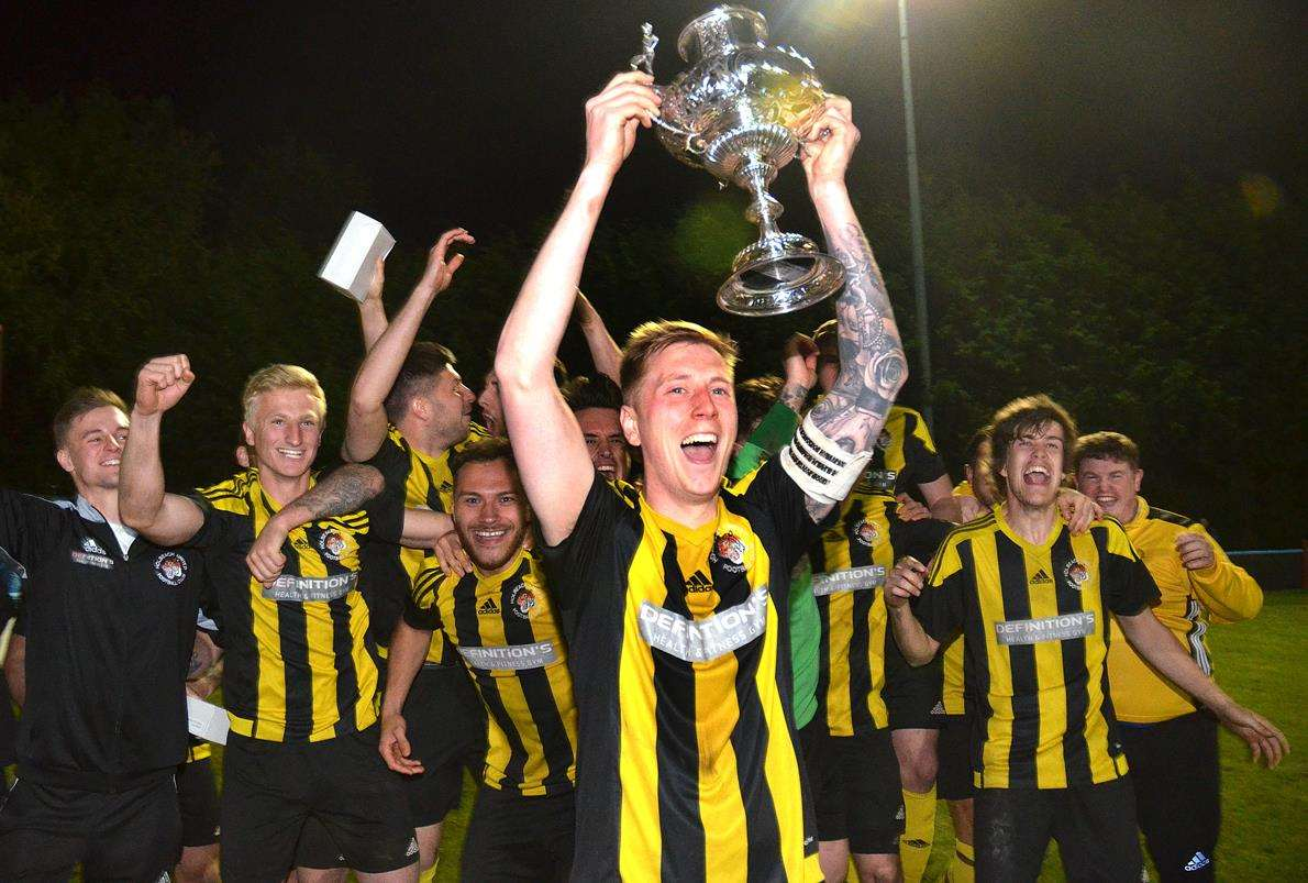 Lincolnshire FA Senior Trophy winners Holbeach United