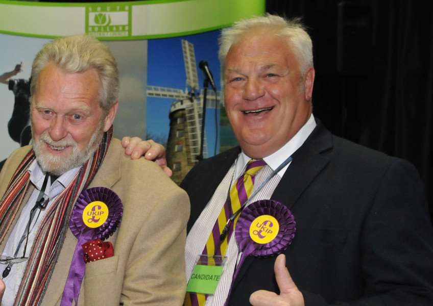 South Holland District Council members Paul Foyster (Holbeach Town ward) and Pete Williams (Spalding St Paul's ward) are both considering their futures within UKIP. Photo by Tim Wilson. SG080515-237TW.