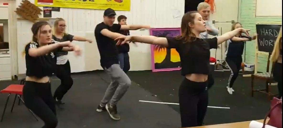 Learning the moves for the forthcoming production of Fame, the Musical in May. (8831025)