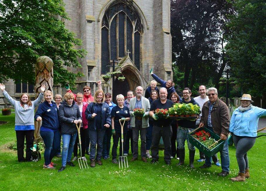 Volunteers gave their time to help freshen up community space around All Saints Church Holbeach as part of Lincolnshire Co-op's Big Co-op Clean. Photo supplied by Lincolnshire Co-op. (2589624)