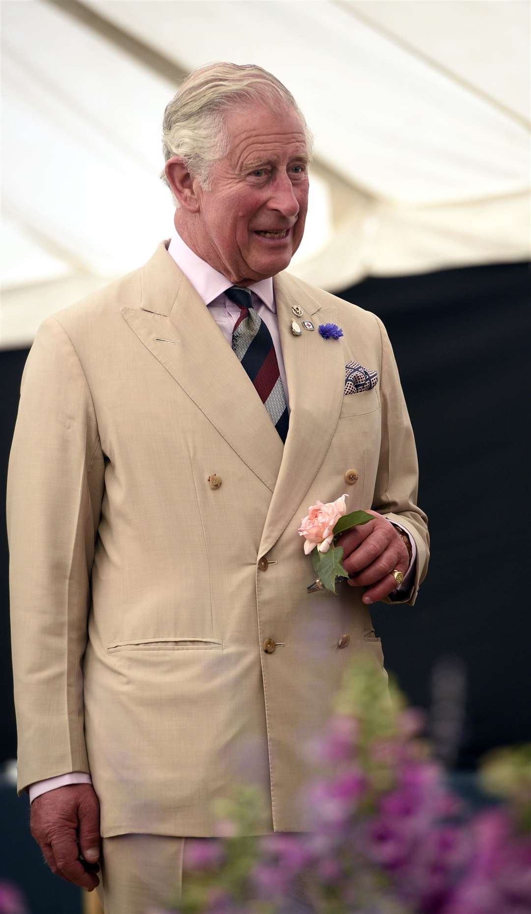 Prince Charles who knighted Sir John Hayes. Photo by Adam Fairbrother.