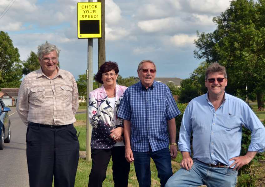 Parish councillors have already organised installation of a speed watch system thanks to Lottery funding. SG240617-236TW